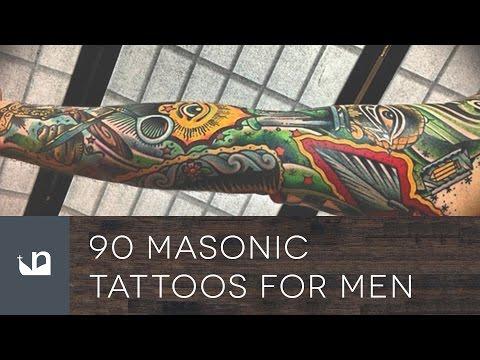 90 Masonic Tattoos For Men - Freemasonry Ink