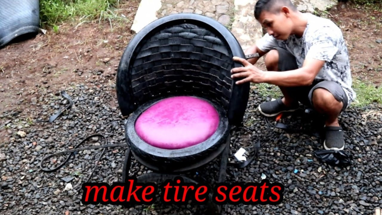 An easy way to make a tire chair (sofa)