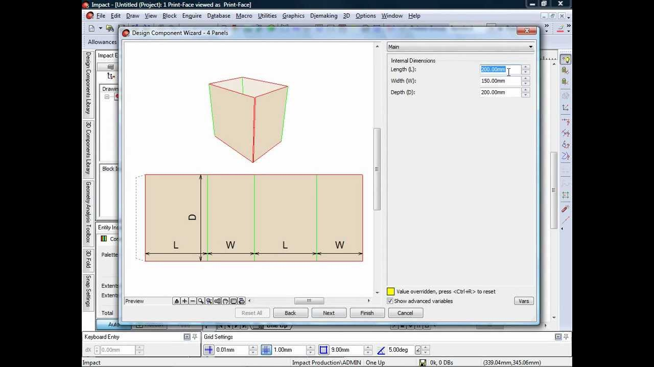 Impact cad cam packaging design software design components for Program design tools