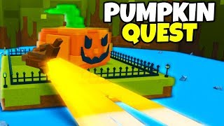 PUMPKIN BOSS! *QUEST* 🎃| Build a boat For Treasure ROBLOX