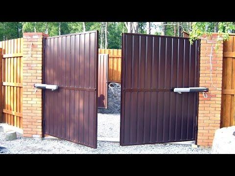 Ворота с калиткой ADS400 - Распашные