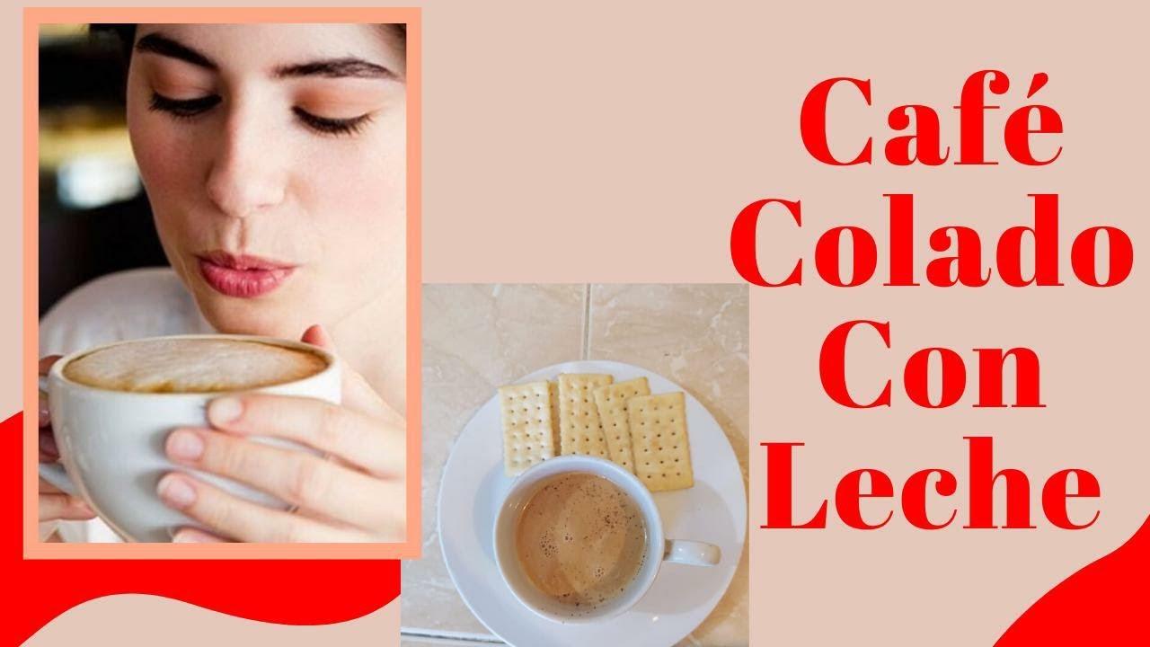 Café colado con leche | Receta fácil con café | Café