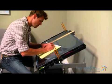 Studio Designs Glass Top 2-Piece Vision Rolling Drafting Table - Product Review Video