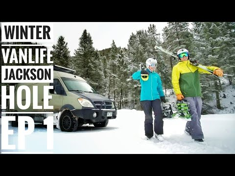 Ep 1: Winter Vanlife is More Than Skiing Powder - Jackson Hole | Adventure in a Backpack