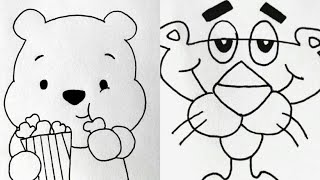 drawing simple draw pencil creative step cartoons learn