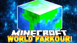 Minecraft - AROUND THE WORLD PARKOUR! w/Preston, Pete & Kenny