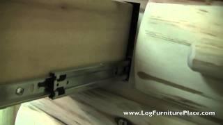 Cedar Lake Logger 10 Drawer Log Dresser | Log Cabin Dresser From Jhe's