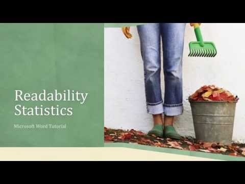 Microsoft Word 2016 / 2013 Tutorial - Readability Statistics - Know More About Your Writing Style