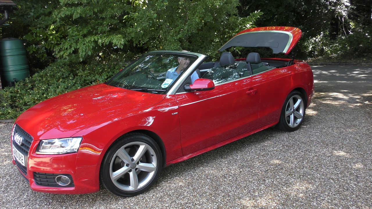 Audi A5 Convertible Electric roof operation YouTube