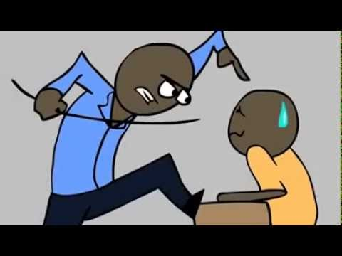 African Teacher ( Cartoon )