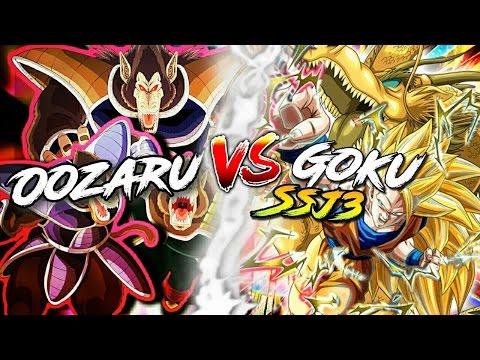DOKKAN BATTLE : OOZARU VS GOKU SSJ3 AGI EN PLS !