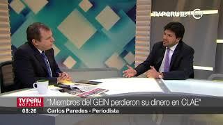 El periodista Carlos Paredes nos presenta su libro