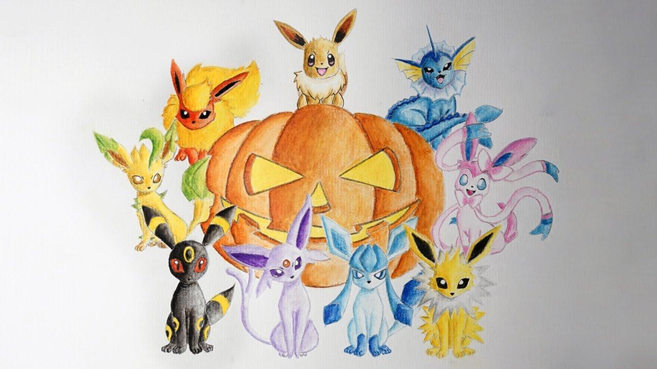 Eevee Evolution Drawing