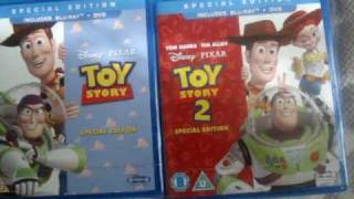 Disney Pixar Toy Story 1 & 2 Blu Ray + DVD Unboxing / Unpacking Bluray