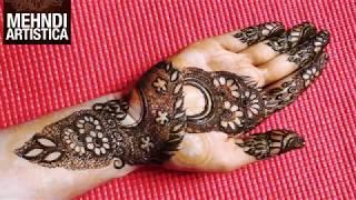 MehndiArtistica Mehndi Design For Hand | 2018 Easy Floral Mehendi For Palm | Indian Mehandi Tattoo