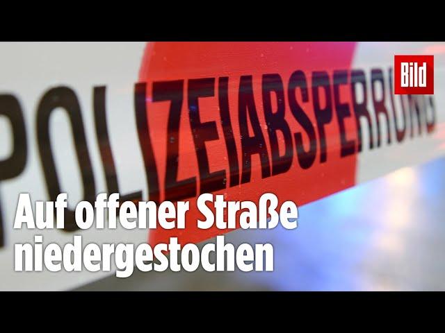 Messer-Attacke\: Mann auf offener Straße niedergestochen