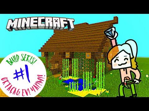 Minecraft PE Build #1 | Ortaçağ Tarzı Ev Yapımı!
