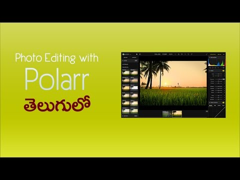 Easy advanced photo color correction with free polarr application - telugu full tutorial