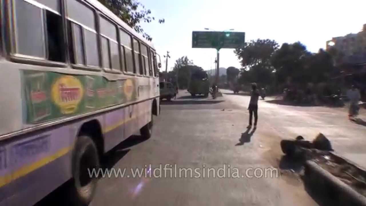 Driving through Alwar en route Sariska in Rajasthan