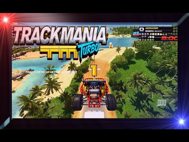 Trackmania Turbo Open Beta Xbox One Gameplay PT BR