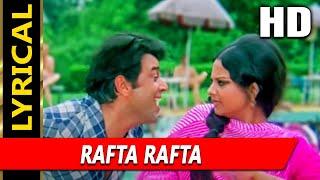 Rafta Rafta Dekho Aankh Meri Ladi Hai With Lyrics   Kishore Kumar, Rekha   Kahani Kismat Ki Songs