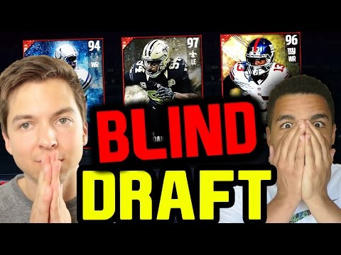 CRAZY BLIND DRAFT AND PLAY VS TD!! MADDEN 17 DRAFT CHAMPIONS