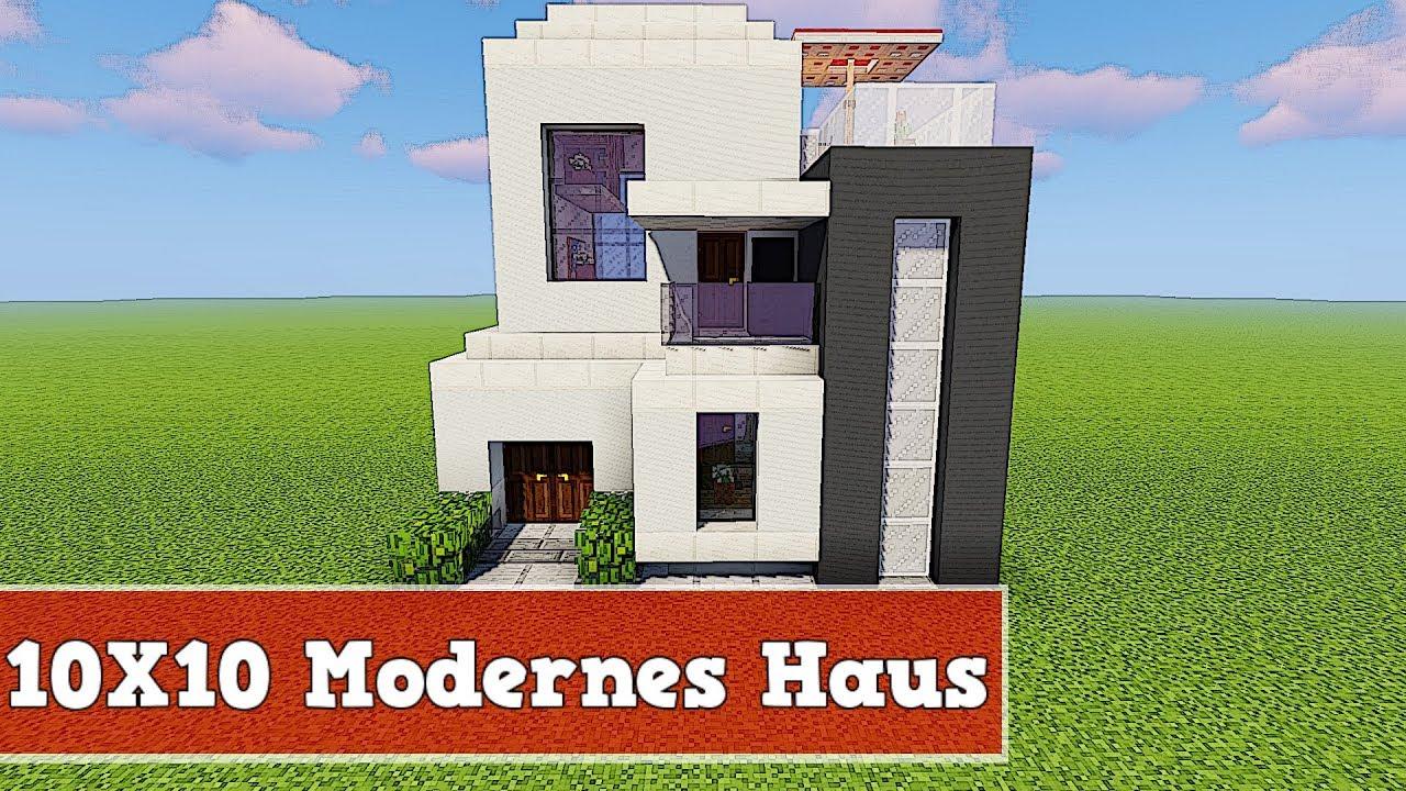 Einfaches Holzhaus Bauen wie baut man ein 10 x 10 modernes haus in minecraft | minecraft