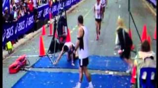 Marathon Collapse at Finish Line - Body Shut Down - Part II - The Disqualification