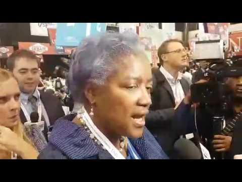 Donna Brazile, interim chairman of the Democratic National Committee speaking about Mr Trump