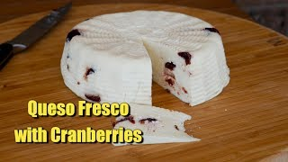 Queso Fresco with Cranberries - In time for Christmas 🎅🧀🎄