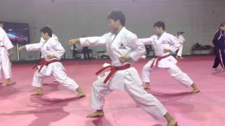 "Japan National Karate Team : ""Jion"" training @ WKF World Championship 2012"