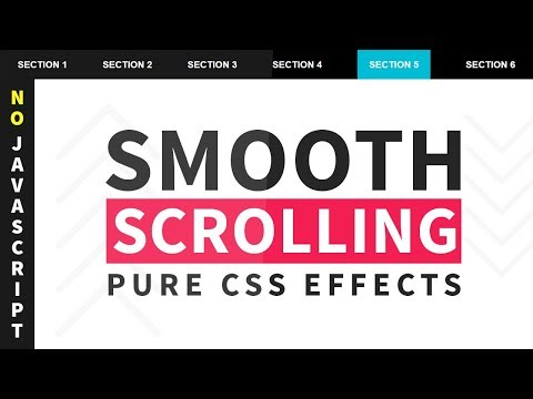 Pure CSS Smooth Scrolling Effects - No Javascript | Smooth