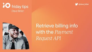Payment Request API   Frİday Tips #2