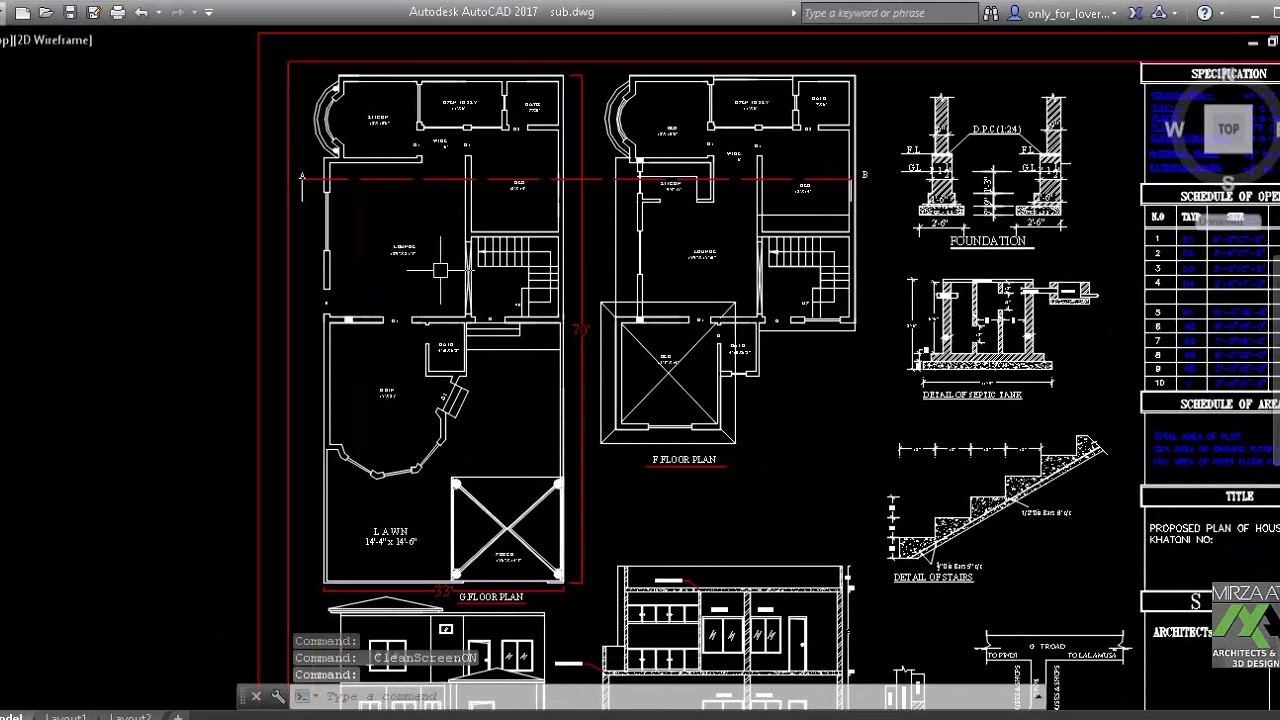 Auto Cad In Urdu Making Of Submission Drawing Youtube