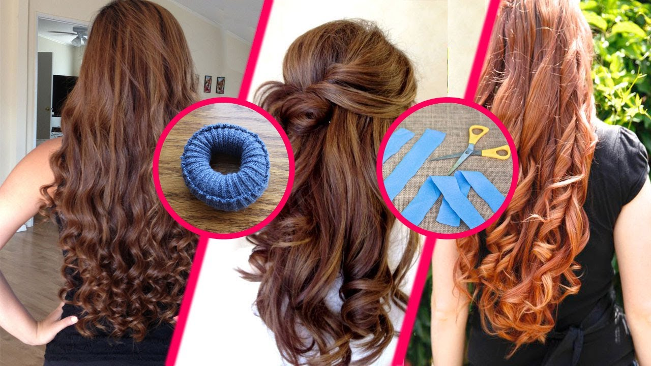 How To Curl Your Hair Without Heat Overnight Youtube