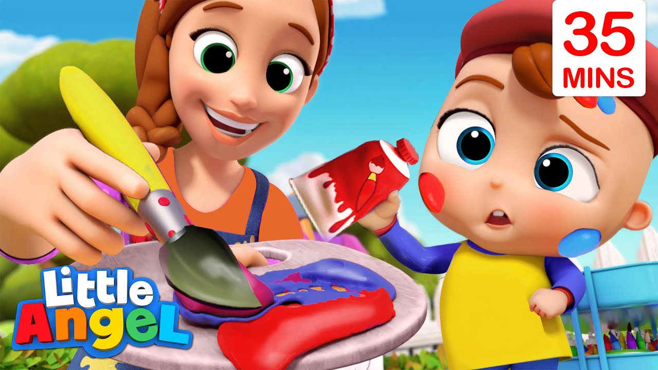 Color Mixing Magic + More Educational Kids Songs & Nursery Rhymes By Little Angel