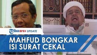 Dapat Salinannya, Mahfud MD Bongkar Isi 'Surat Cekal' yang Diklaim Rizieq Shihab dari Pemerintah