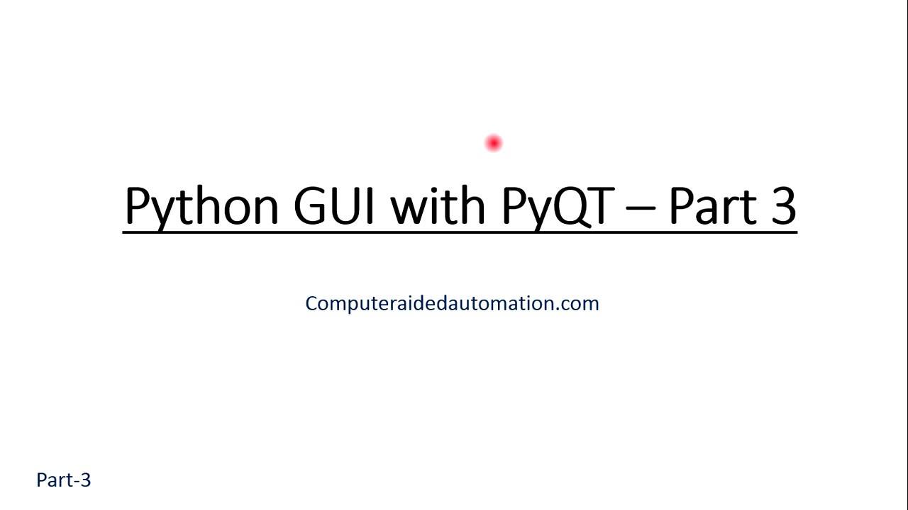 Python GUI with PyQT : Insert Button - Part - Python