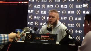 Clemson linebacker Ben Boulware on Alabama quarterback Jalen Hurts