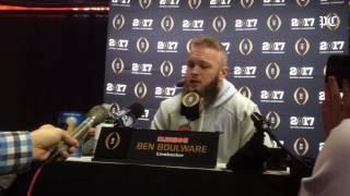 Clemson linebacker Ben Boulware on Alabama quarterback Jalen Hurts