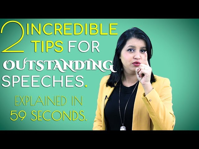 How to Make Your Speech Incredible - 2 Tips | Public Speaking Training