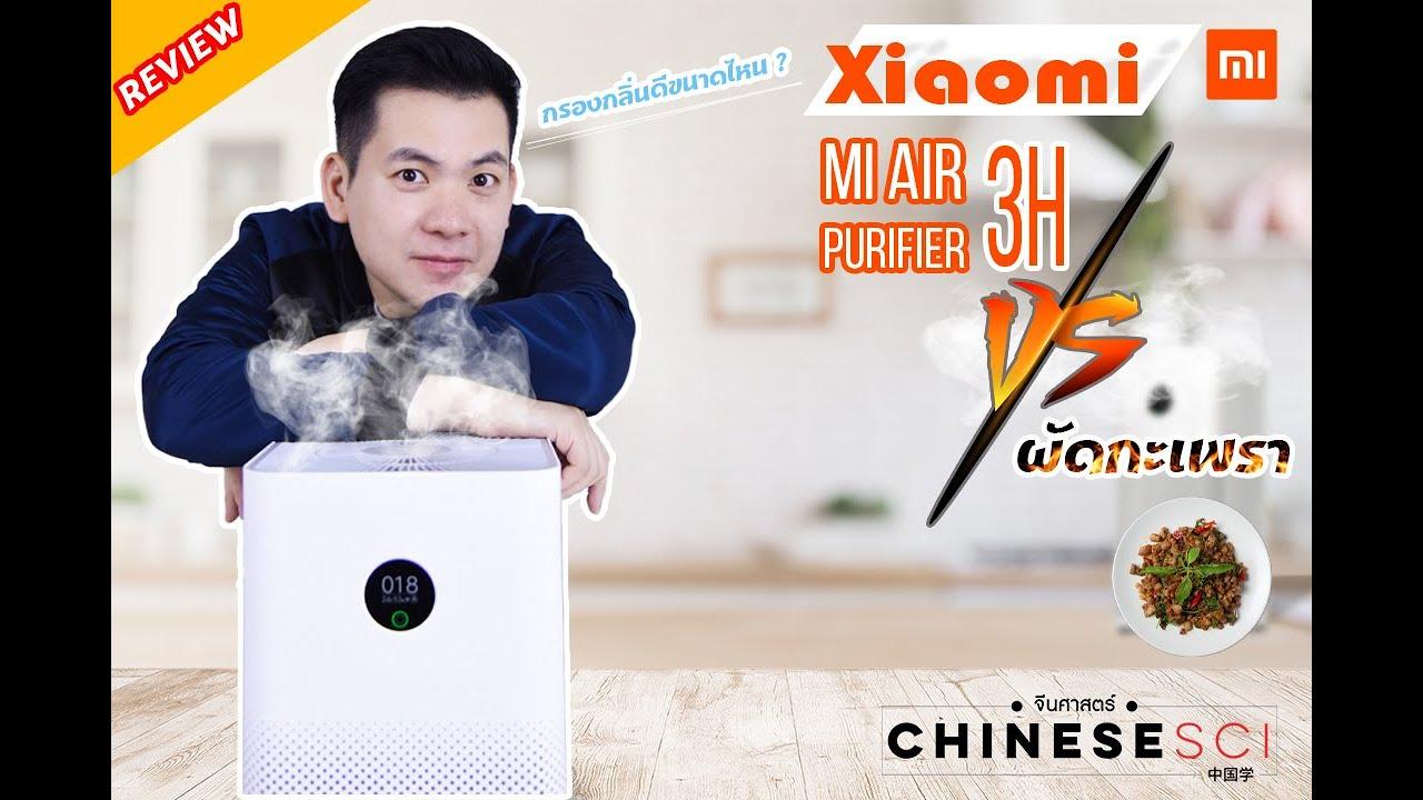 Xiaomi Mi Air Purifier 3H VS ผัดกะเพรา จะกรองกลิ่นได้ดีแค่ไหน