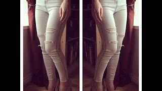 Blugi rupti rapid si usor (ripped jeans)