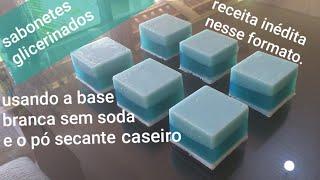 Faça sabonetes glicerinados usando a base branca sem soda para sabonetes