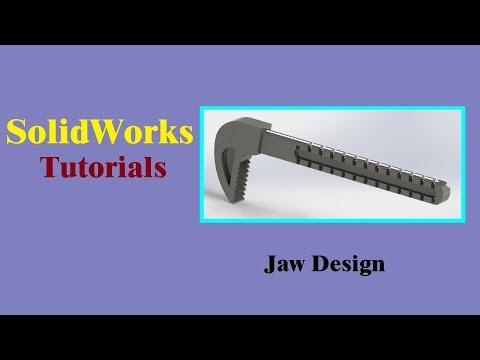 SolidWorks Tutorials   Adjustable wrench jaw Design