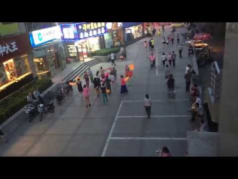 Chinese musicians in the streets of Beijing