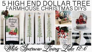 5 HIGH END DOLLAR TREE FARMHOUSE CHRISTMAS DIYS $3 PROJECTS + PAINTING TUTORIAL