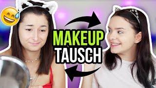 FACE SWAP - wir tauschen unsere Makeup Routine! 😳MAKEUP TAUSCH!! | unlikely