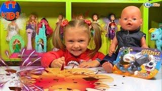 ✔ Кукла Беби Борн и Ярослава открывают бомбочки с сюрпризами / Doll Baby Born with Yaroslava ✔
