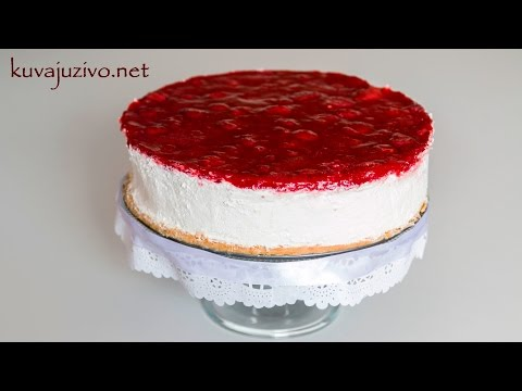 Čizkejk Sa Jagodama - Strawberry Cheesecake - Video Recept